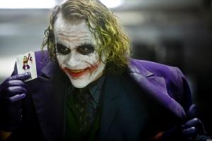 Heath Ledger as the Joker.  Best.  Joker.  Ever!