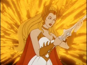 He-Man's long lost sister She-Ra.