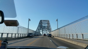 Here is the afore mentioned Bourne Bridge, one of the gateways to Cape Cod.