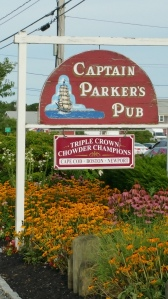 After the beach, we ate dinner at this great restaurant called Captain Parkers Pub.  I always say that you can tell a lot about a restaurant by their clam chowder, and this place had the second best chowder I have ever had in my life I must say.