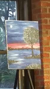 Here is the instructor's painting that we were all learned how to paint.